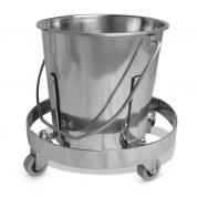 Cubo de acero inoxidable con pedal para colectar urina, resíduos y suciedad Kick Bucket