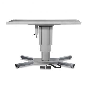 Mesas quirúrgicas eléctricas con plataforma plana y base en X