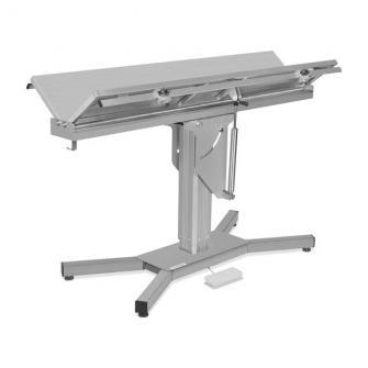 Mesas quirúrgicas eléctrica/hidráulica con plataforma en V y base en X