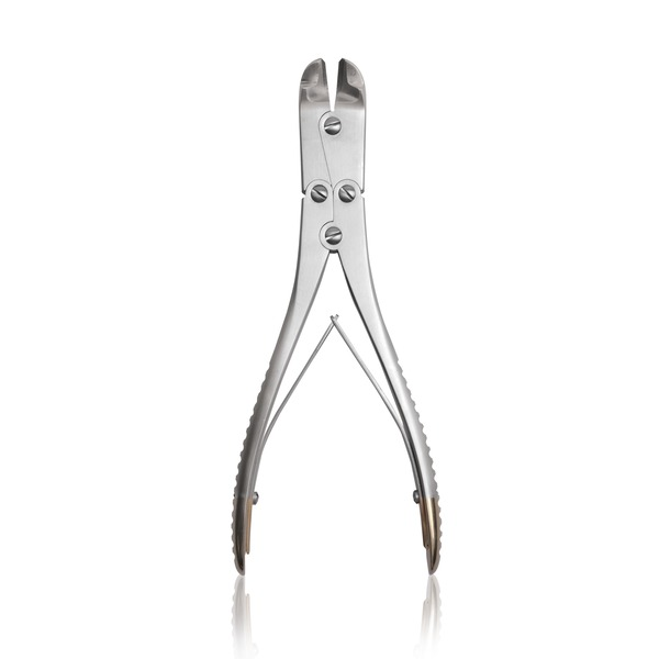 Alicate para cortar las jaulas para el adelantamiento de la tuberosidad tibial anterior (T. T. A.)