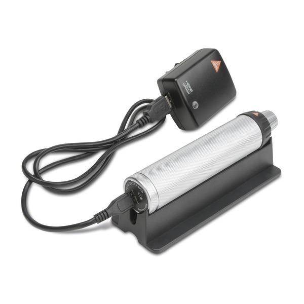 Mango recargable HEINE BETA® 4 USB y accesorios