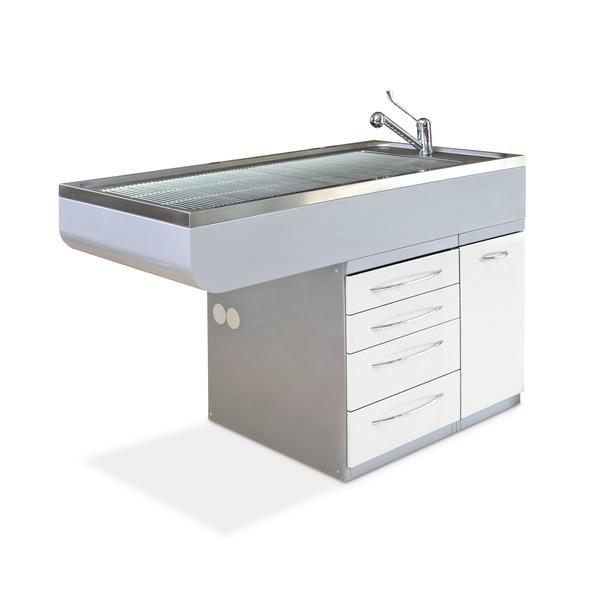 Mesas bañeras con dos módulos cajones/puerta
