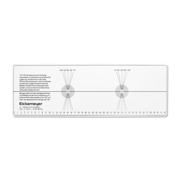Regla displasia y calibrador para mediciones radiográficas